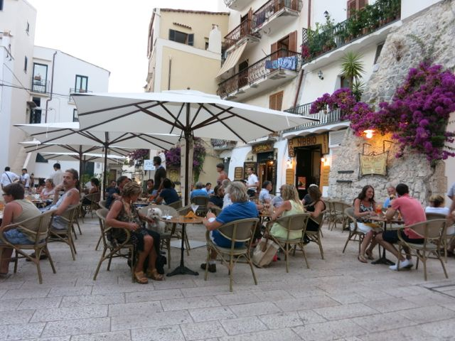 Cocktails at Bar Nibbio, Sperlonga.