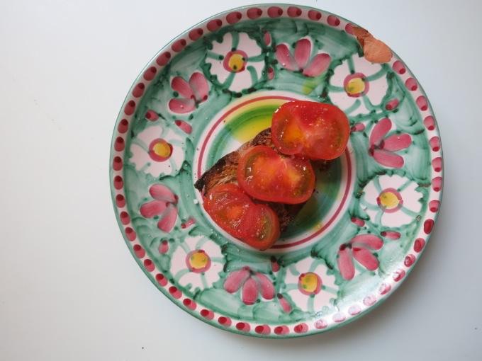 Tomato and Orange Olive Oil Bruschetta