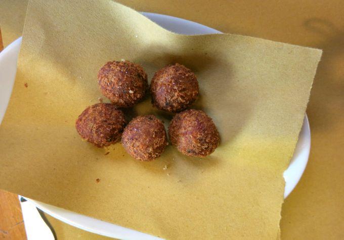 Tripe Meatballs,  Osteria Tripperia Il Magazzino