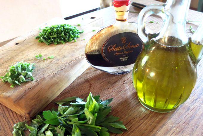 Condiments for Beet and Mozzarella Salad