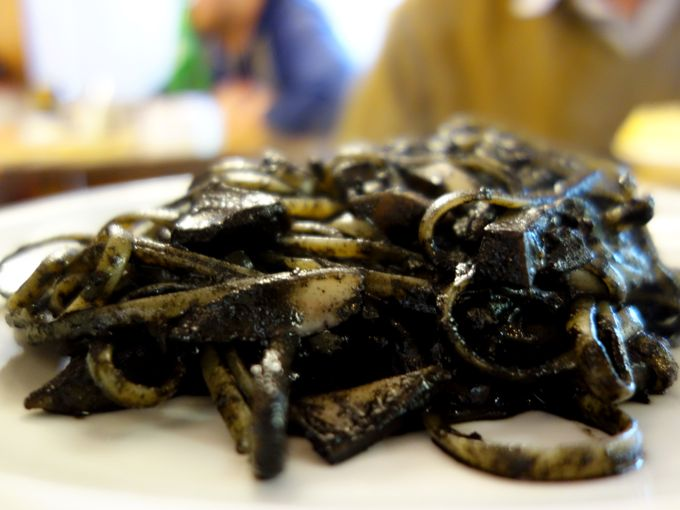 Spaghetti with Squid in Ink, La Palanca, Venice