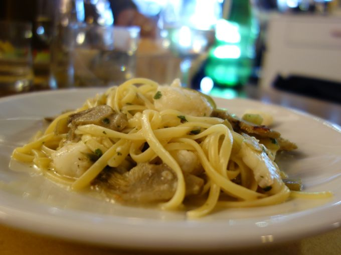 Linguine with fish and artichokes, La Palanca, Venice