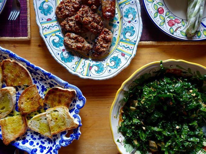 Kale, Pear and Grape Salad