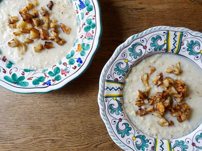 Cauliflower Jerusalem Artichoke Soup Elizabeth Minchilli